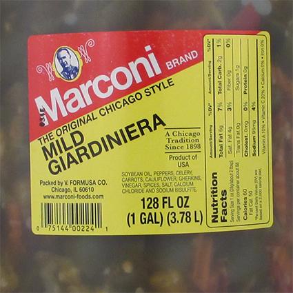 MARCONI MILD GIARDINIERA - BULK