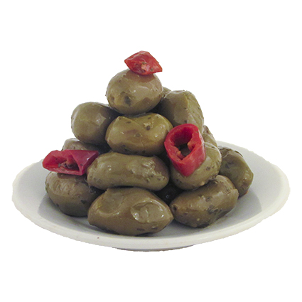 CINQUINA GREEN GIANT CRACKED OLIVES - BULK