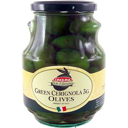 CINQUINA GREEN CERIGNOLA OLIVES