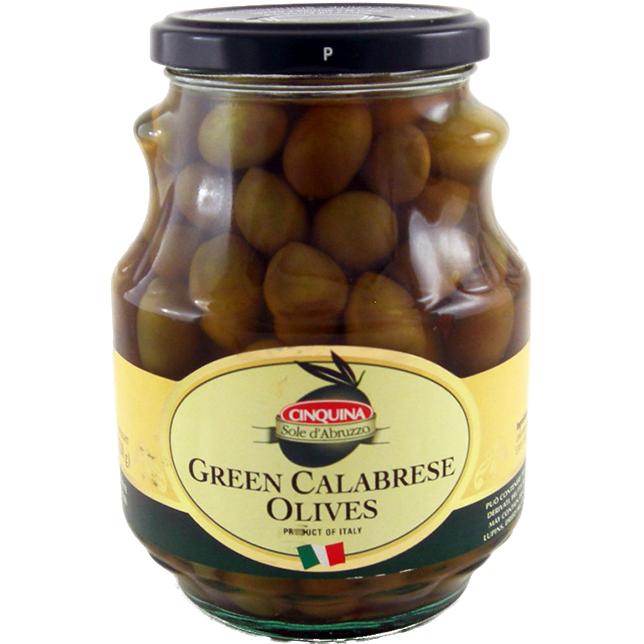 CINQUINA GREEN CALABRESE OLIVES