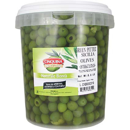 CINQUINA GREEN CASTELVETRANO PITTED OLIVES - BULK 1