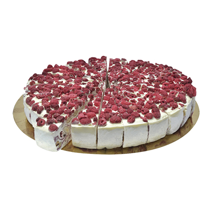 QUARANTA RASPBERRY WHITE CHOCOLATE SOFT NOUGAT CAKE