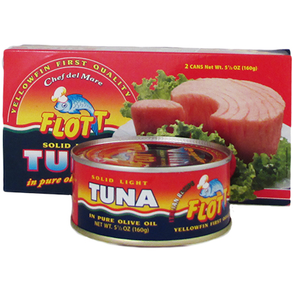 FLOTT SOLID TUNA IN PURE OLIVE OIL  2 PACK