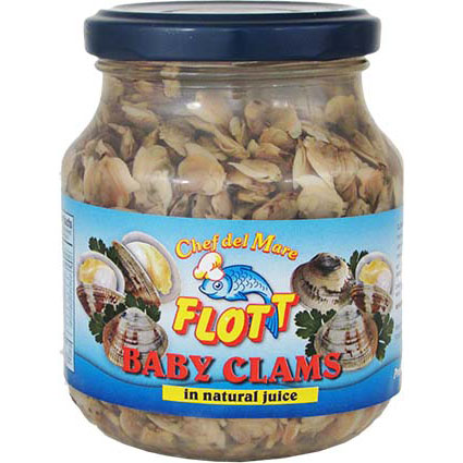 FLOTT BABY CLAMS IN NATURAL JUICE