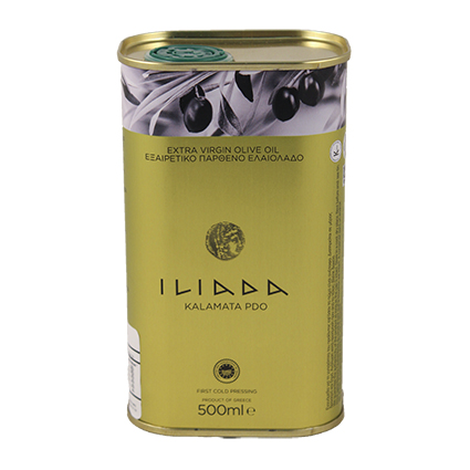 ILIADA EXTRA VIRGIN OLIVE OIL IN TIN