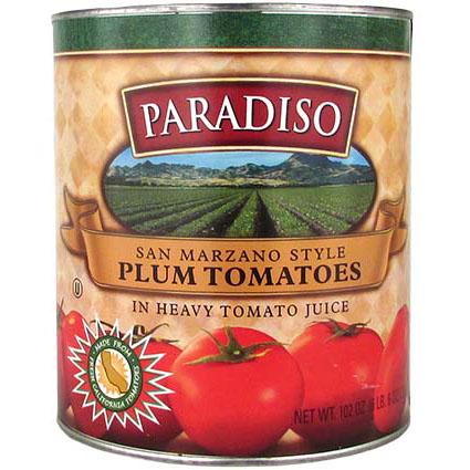 PARADISO PLUM TOMATOES IN HEAVY JUICE 1