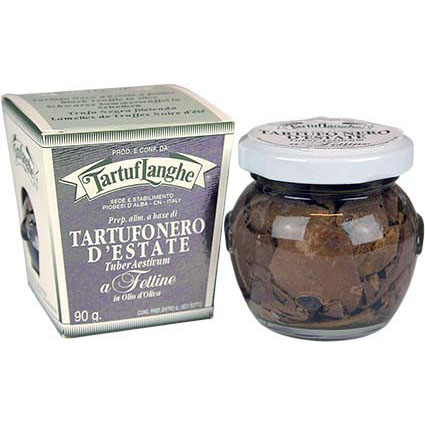 TARTUFLANGHE BLACK SUMMER TRUFFLE SLICES IN OIL