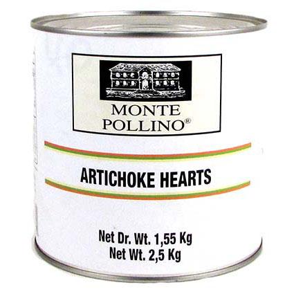 MONTE POLLINO WHOLE ARTICHOKE HEARTS