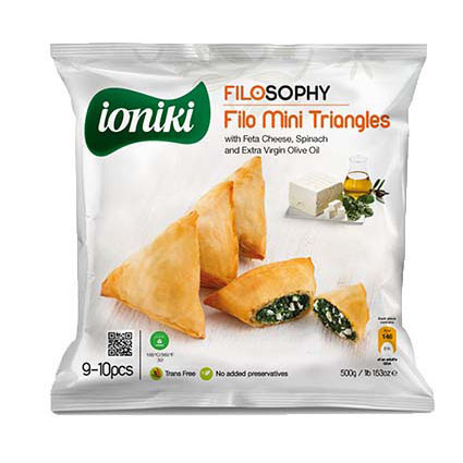 IONIKI MINI TRIANGLES WITH FETA CHEESE & SPINACH
