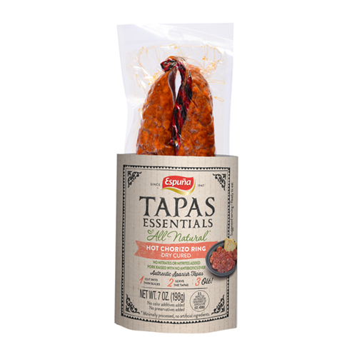 espuna tapas chorizo hot ring